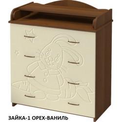 Пеленальный комод Алмаз мебель КП-2 / Ваниль (рисунок)