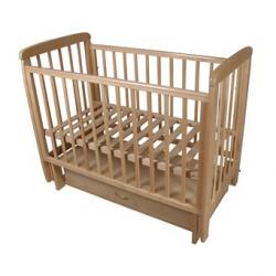 Кроватка для новорожденного Соня-04 поперечный маятник + закрытый ящик