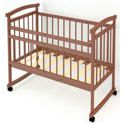 Детская кроватка Бэби Бум Алёнка колёса + качалка