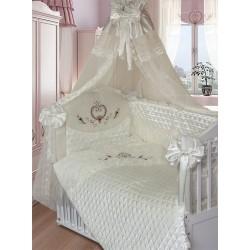 Комплект в кроватку Золотой гусь Эстель 9 предметов