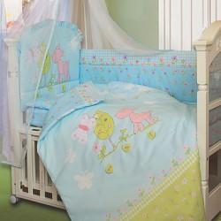 Комплект в кроватку Золотой гусь Little Friend 8 предметов