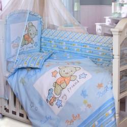 Комплект в кроватку Золотой гусь Zoo Bear 8 предметов