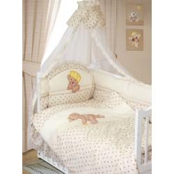 Комплект в кроватку Золотой гусь Мишка царь 9 предметов