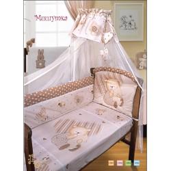 Комплект в кроватку Золотой гусь Мишутка 8 предметов