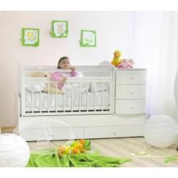 Детская кровать трансформер Можга Красная звезда Кирюша С-859 маятник