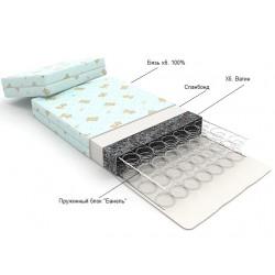 Матрац для кровати-трансформера без маятника 2шт. 120*60см. + 40*60см.
