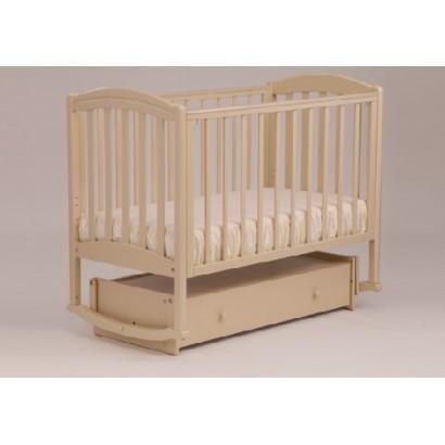 Кроватка для новорожденного Лель - Кубаньлесстрой Василёк БИ 09.2 поперечный маятник + закрытый ящик