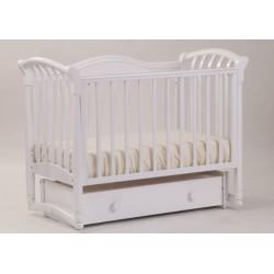 Кроватка для новорожденного Лель - Кубаньлесстрой Азалия БИ 10.2 поперечный маятник + закрытый ящик
