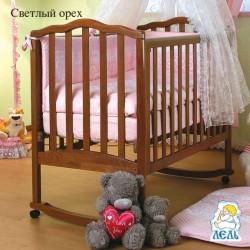 Кроватка для новорожденного Лель - Кубаньлесстрой Жасмин АБ 19.0 качалка + колёса