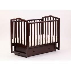 Кроватка для новорожденного Лель - Кубаньлесстрой Жасмин АБ 19.2 поперечный маятник + закрытый ящик