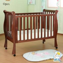 Кроватка для новорожденного Лель - Кубаньлесстрой Лаванда АБ 21.0 на колёсах