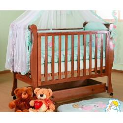 Кроватка для новорожденного Лель - Кубаньлесстрой Лаванда АБ 21.1 колёса + ящик