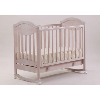 Кроватка для новорожденного Лель - Кубаньлесстрой  Камелия АБ 23.1 качалка + колёса + ящик