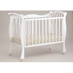 Кроватка для новорожденного Лель - Кубаньлесстрой Ландыш БИ 07.0 на колёсиках