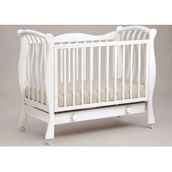 Кроватка для новорожденного Лель - Кубаньлесстрой Ландыш БИ 07.1 колёса + ящик