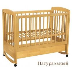 Кроватка для новорожденного Лель - Кубаньлесстрой Ромашка АБ 16.1 качалка + колёса + ящик