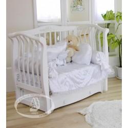 Кроватка для новорожденного Можга Красная звезда Аэлита С-888 поперечный маятник + закрытый ящик