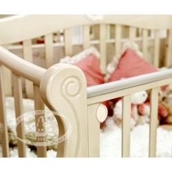 Детская кроватка Можга Красная звезда Валерия С-707 продольный маятник + закрытый ящик