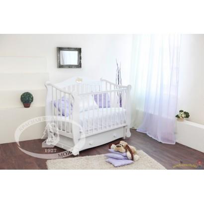 Кроватка для новорожденного Можга Валерия С-708 Красная звезда поперечный маятник + закрытый ящик