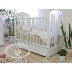 Кроватка для новорожденного Можга Красная звезда Виталина С-851 поперечный маятник + закрытый ящик