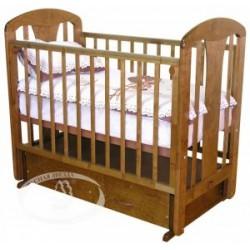 Кроватка для новорожденного Можга Виталина С-851 Красная звезда поперечный маятник + закрытый ящик