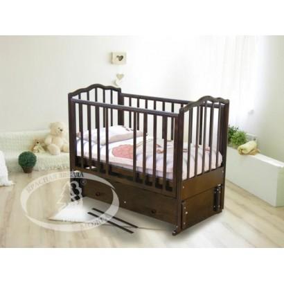 Кроватка для новорожденного Можга Красная звезда Ангелина С-676 продольный маятник + закрытый ящик