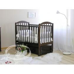 Детская кроватка Можга (Красная звезда) Регина С 602 продольный маятник + закрытый ящик