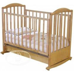 Кроватка для новорожденного Можга Яна С663 Красная звезда качалка + колёса + закрытый ящик