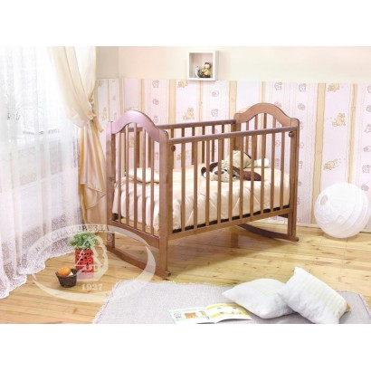 Кроватка для новорожденного Можга Злата С-354 Красная звезда качалка + колёса