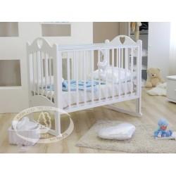 Кроватка для новорожденного Можга Любаша С635 Красная звезда качалка + колёсики