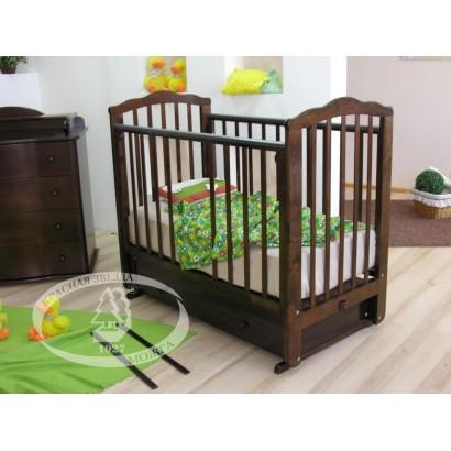 Кроватка для новорожденного Можга Красная звезда Элина С669 поперечный маятник + закрытый ящик