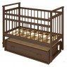 Детская кроватка для новорожденного Бэби Бум Ольга-2 поперечный маятник + закрытый ящик