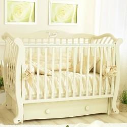Кроватка для новорожденного Можга Красная звезда Юлиан С-777 продольный маятник + закрытый ящик