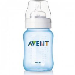 Комплект из 2 бутылочек для кормления из серии Classic, 260 мл (соска с медленным потоком) Avent (Авент)