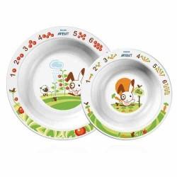Набор из 2 тарелок (большая + малая) Avent SCF708/00 (Авент)