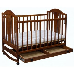 Детская кроватка для новорожденного Наполеон колесо-качалка с ящиком 120x60 см
