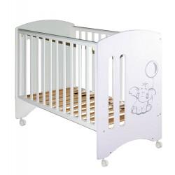 Детская кроватка для новорожденного с колёсиками Laluca Софи (Слоник) Можгинский лесокомбинат