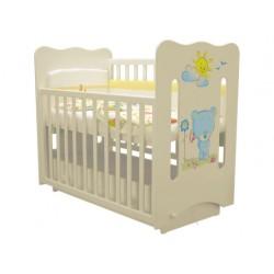 Детская кроватка Laluca Руслана (Медвежонок) поперечный маятник с ящиком Можгинский лесокомбинат