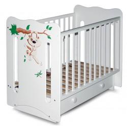 Детская кроватка с поперечным маятником   ящик Laluca Руслана (Кроха енот) Можгинский лесокомбинат