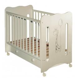 Детская кроватка для новорожденного колесо+ящик Laluca Руслана (Жирафик) Можгинский лесокомбинат