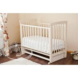Кроватка для новорожденного Можга Марина С-702 Красная звезда поперечный маятник