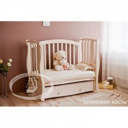Кроватка для новорожденного Можга Красная звезда Ярослава С551 продольный маятник + закрытый ящик