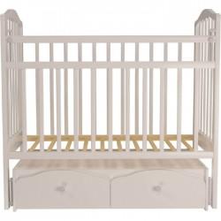 Детская кроватка для новорожденного Агат Золушка-7 с поперечным маятником и ящиками