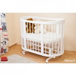 Детская круглая кроватка для новорожденного Можга Красная звезда Паулина-2 С422 с продольным маятником