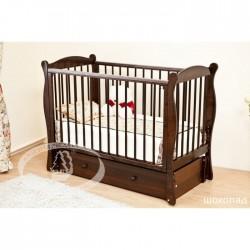 Детская кроватка Можга Красная звезда Уралочка С742 с продольным маятником