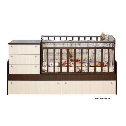 Детская кровать трансформер маятник Укачай-ка c механизмом