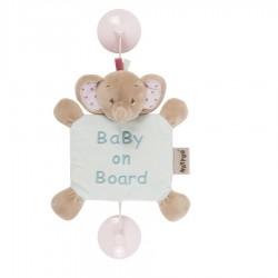 Знак автомобильный Nattou Baby on board Charlotte&Rose Слоник 655354