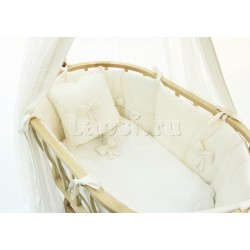 Набор для колыбели Fiorellino Berlin Premium Baby Cream + матрасик