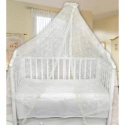 Балдахин над кроваткой (вышитая сетка)