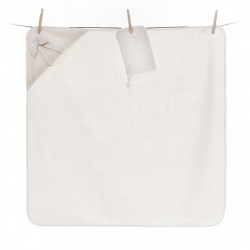 Полотенце-уголок Fiorellino Premium Baby Cream 90x90 см + варежка